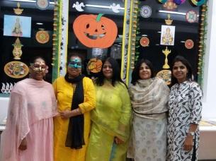 L-R: Me, Maitreyee Ma'am,Madhur Ma'am (VP), Isha Ma'am and Vidhi Ma'am