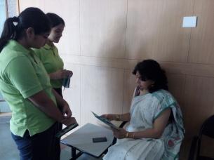 Anjali Ma'am (IB HEAD) with the invite
